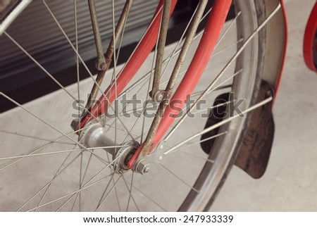 components bicycle - stock photo