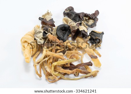 Components to make mildly seasoned soup - stock photo