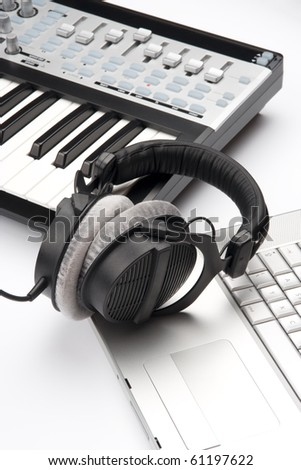 Composer workplace - stock photo