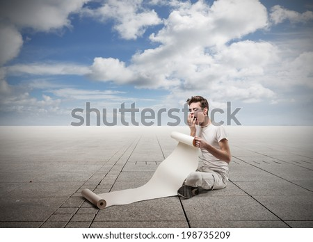 composing - stock photo