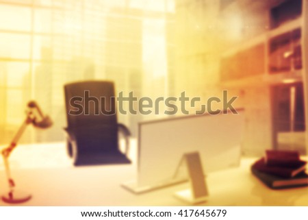 Composite image of an office background - stock photo