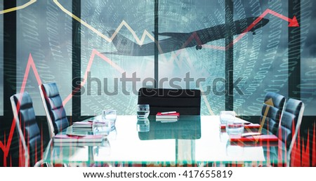 Composite image of boardroom on a airport - stock photo