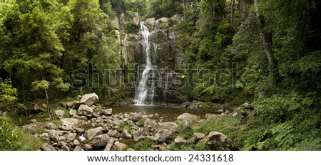 Composite image of Minnamurra Falls in the Morton National Park NSW Australia - stock photo