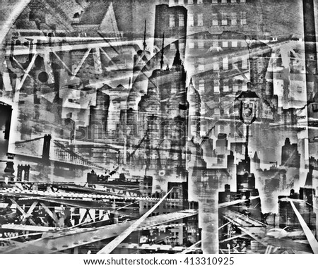 Composite image of New York City - stock photo
