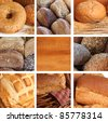 Composite of a variety of freshly baked bread. - stock photo