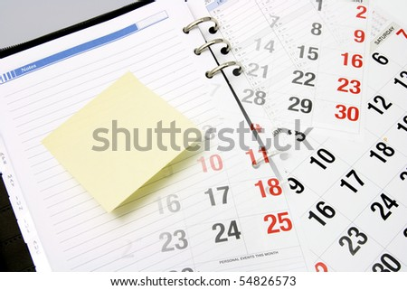 Composite of Calendar and Planner - stock photo