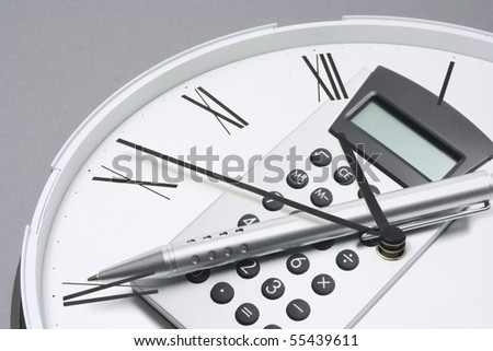 Composite of Clock and Calculator