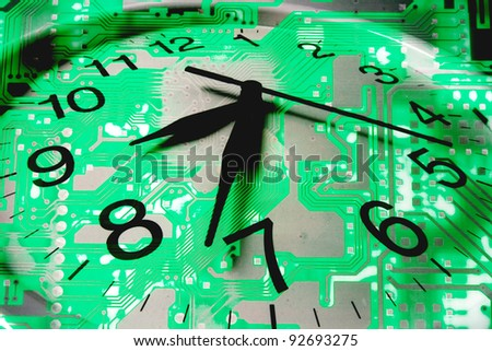 Composite of Clock and Circuit Board