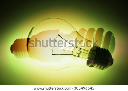 Composite of Light Bulbs - stock photo