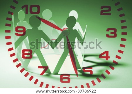 Composite of Paper Chain and Clock
