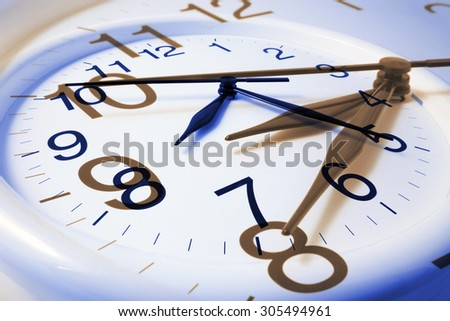 Composite of Wall Clocks - stock photo