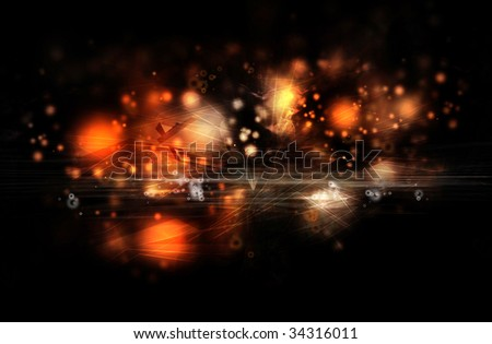 Composition design of warm and hot elements. Red and orange colors. Ideal for background. - stock photo