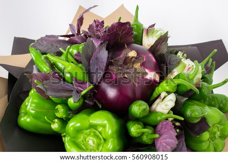 Composition from vegetables. The concept of culinary art