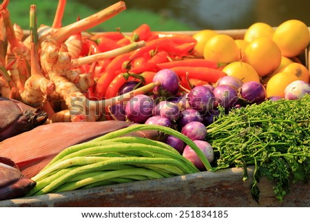Composition of assorted organic vegetables.