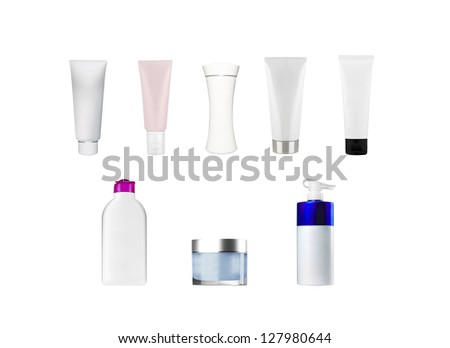 composition of bottles and tubes
