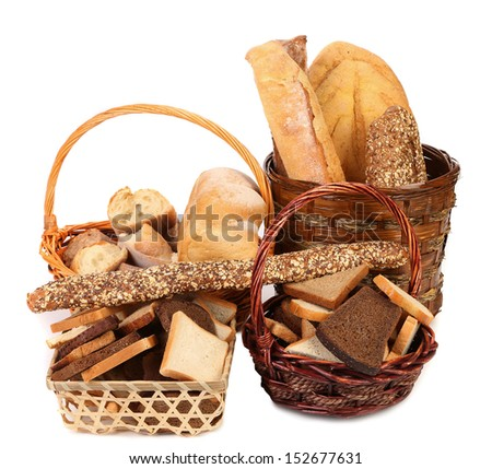 Composition of breads and baskets.
