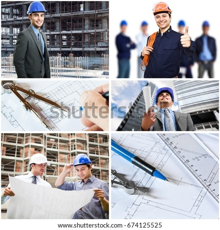 Composition of construction related images