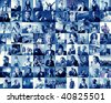 composition of different kind of people - stock photo