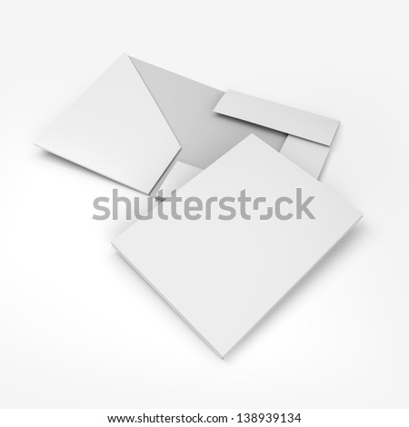 composition of empty folders. 3d render