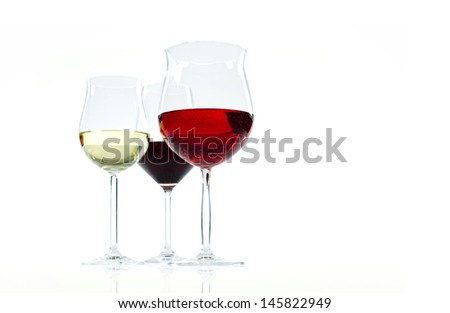composition of fine wines - stock photo