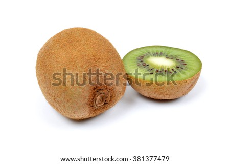 Composition of kiwi on a white background - stock photo