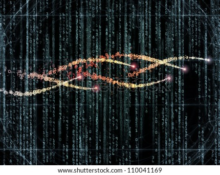 Composition of numbers and design elements suitable as a backdrop for the projects on computers, science, math and modern technology - stock photo