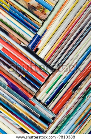 Composition of papers, magazines and others print works - stock photo