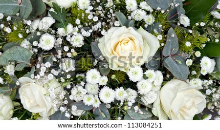 Composition of rose flowers - stock photo