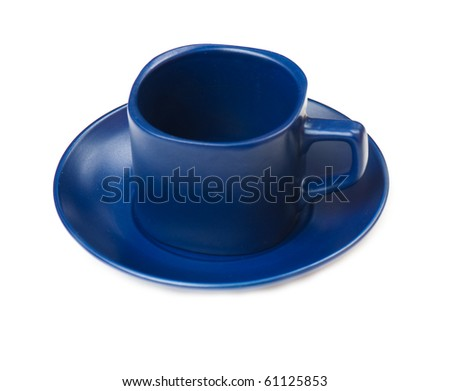 composition of the coffee cups on a white background isolated. studio photo