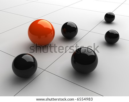 Composition of the spheres - stock photo