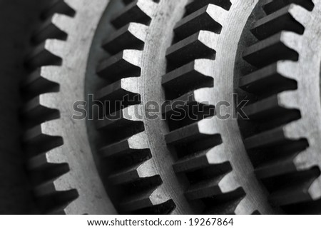 Composition with a set of gears.Shallow DOF - stock photo