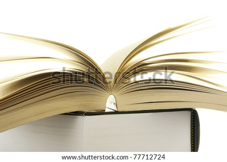 Composition with books on white background