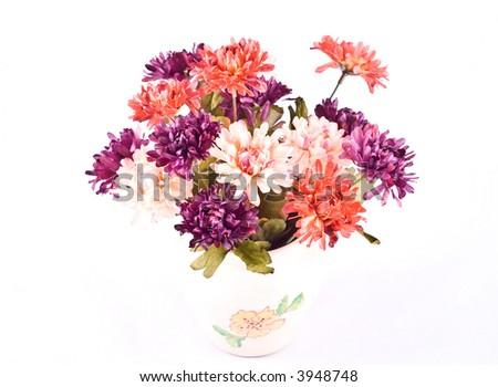 Composition with flowers.