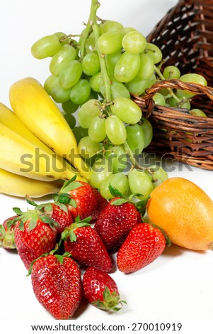 Composition With Fruits for a Healthy Life. - stock photo