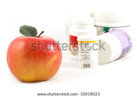 composition with medicaments and apple