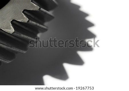 Composition with part of a cogwheel.Shallow DOF - stock photo