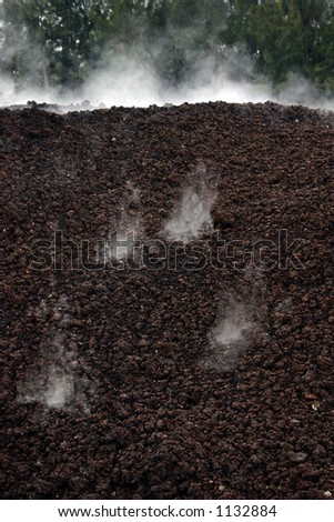 Compost fermentation - stock photo