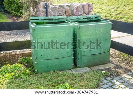 compost, garden  - stock photo