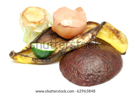 Compost Heap. Recycle used food scraps into the earth. Environmental Conservation. - stock photo