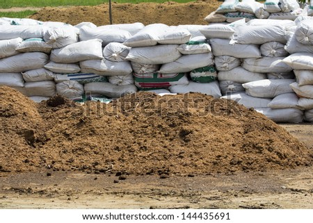 composting ecological in farm - stock photo