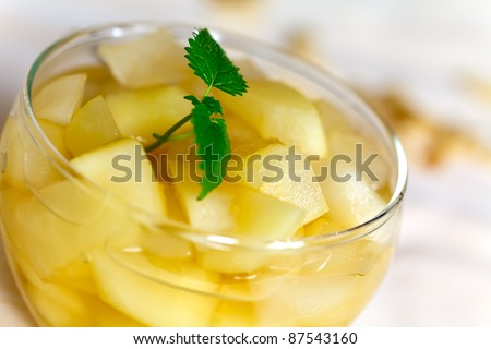 compote of dried fruits and spices - stock photo