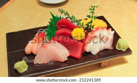 Comprehensive sashimi - stock photo