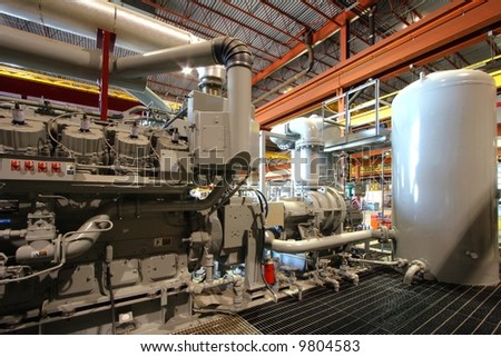 Compressor station - stock photo
