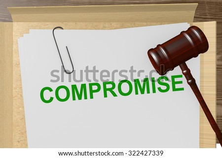 Compromise Title On Legal Documents - stock photo