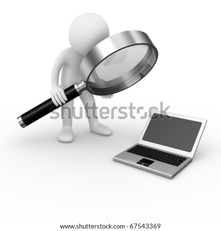 Computer analysis - stock photo