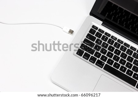 computer and cable