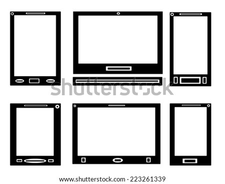 Computer and Mobile Phone - stock photo