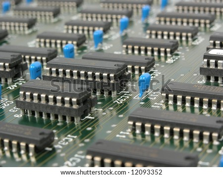 Computer board 1 - stock photo