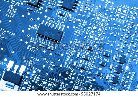 computer board and processor hardware electronic background