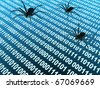 Computer bugs - stock photo